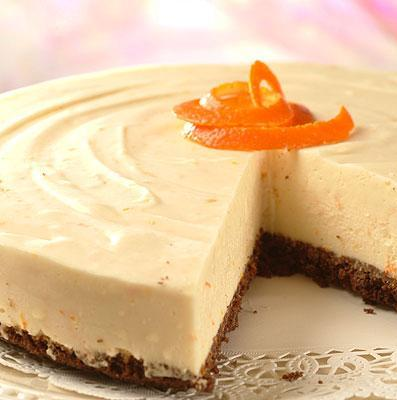 No Bake Chocolate-Orange Cheesecake