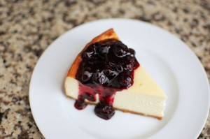Easy Dessert - Guilt-Free Blueberry Cheesecake with Blueberry Sauce