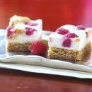 White chocolate & Raspberry Cheesecake Squares