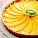 Mango Cream Tart with Coconut Crust