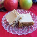 Apple Blondies with Caramel Frosting