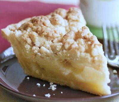 Pear Crumble Pie