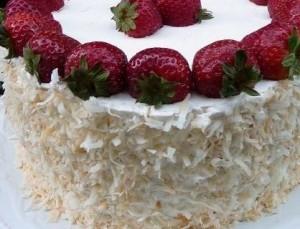 Coconut Strawberry Cake