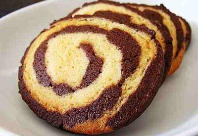 Mocha Pinwheel Cookies