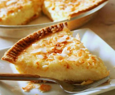 Toasted Coconut Custard Pie