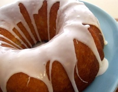 Glazed Banana Nut Cake