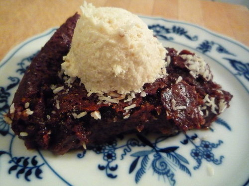 Brownie Coconut Pudding Cake