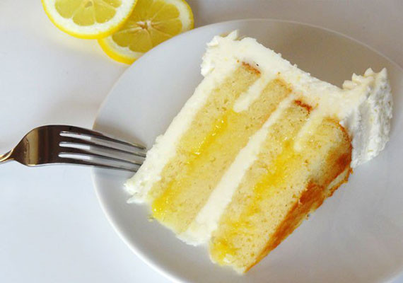 Lemon Cake with Lemon Custard Filling and Frosting