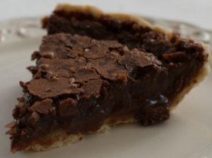 Fudgy Chocolate Crack Pie